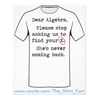 A cara álgebra para de por favor pedir que nós flyer 11.43 x 14.22cm