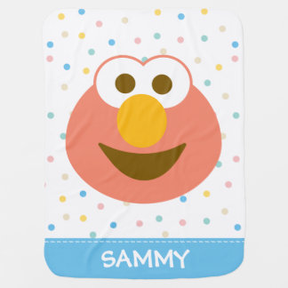 A cara grande   do bebê de Elmo adiciona seu nome Manta Para Bebe