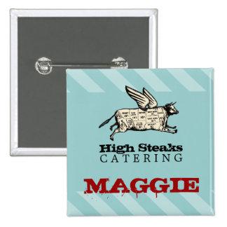 a carne de vaca feita sob encomenda do vôo da cor bóton quadrado 5.08cm