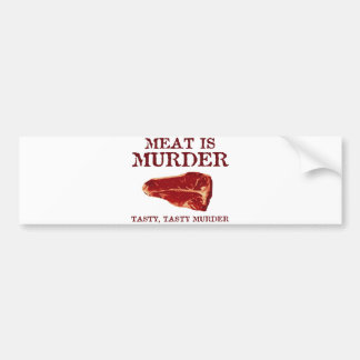 A carne é assassinato saboroso adesivo para carro