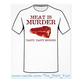 A carne é assassinato saboroso flyer 11.43 x 14.22cm