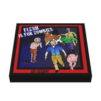 A carne é para zombis! Impressão legal das canvas