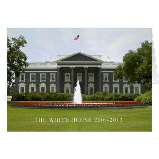 """""""A casa branca 2009-2013 """" Cartão Comemorativo"""