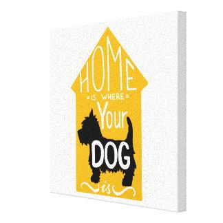 A casa é o lugar onde o cão está