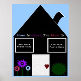 A casa é o lugar onde o coração é modelo da foto posters