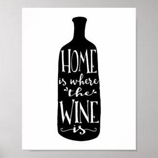 A casa é o lugar onde o vinho é impressão da arte