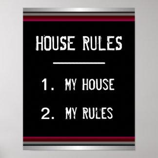 A casa engraçada ordena o poster