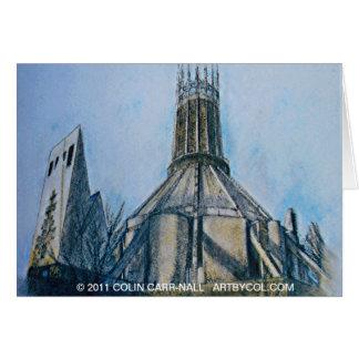 A catedral católica Liverpool Colin Carr-Nall Cartão