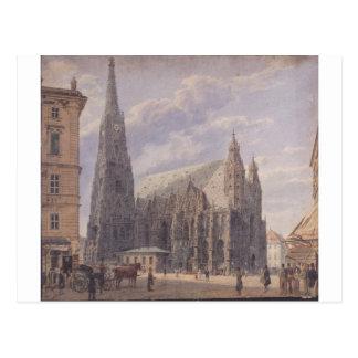 A catedral do St Stephen em Viena pelo Vo de Cartão Postal
