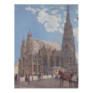 A catedral do St Stephen em Viena por Rudolf Cartão Postal