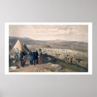 A cavalaria acampa, chapeia 'de Seat da guerra no  Poster