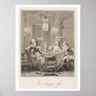 A ceia fina, 1781, gravado por I.S. Helman (17 Poster