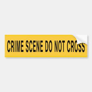 A cena do crime não se cruza adesivo para carro