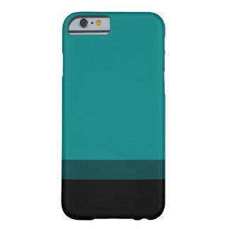 A cerceta desvanece-se para enegrecer o caso capa iPhone 6 barely there
