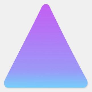 a cerceta violeta desvanece-se adesivo triangular