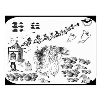 A cerimónia assombrada - cartão postal