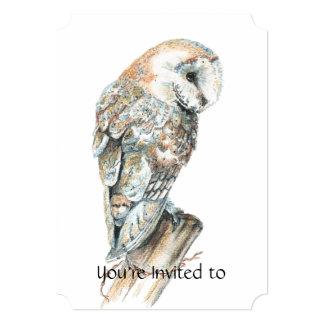 A cerimonia comemorativa convida a coruja de convites