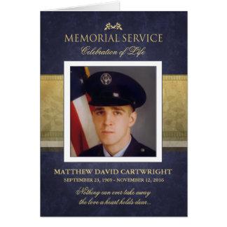 A cerimonia comemorativa da elegância dos azuis cartão comemorativo