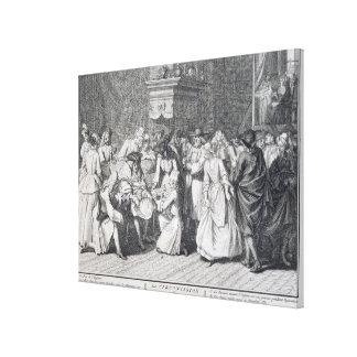 A cerimónia da circuncisão (gravura) impressão em tela