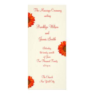 A cerimónia de casamento outono bege programa o modelos de panfletos informativos