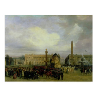 A cerimónia para o retorno das cinzas de Napoleon Cartão Postal