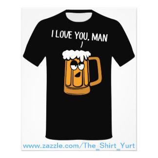A cerveja ama-o homem modelo de panfletos