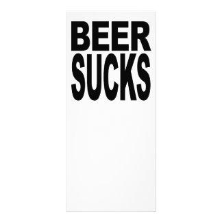 A cerveja suga 10.16 x 22.86cm panfleto