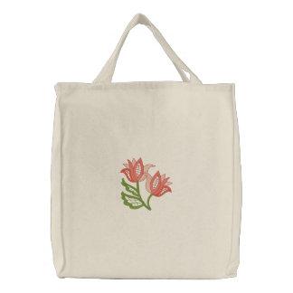A céu aberto floral bolsa