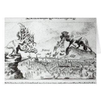 A cidade de Augsburg forçou para aceitar o católic Cartão Comemorativo