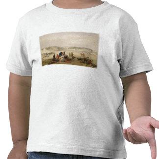 A cidade de Roree, e a fortaleza de Bhukker, sobre Camiseta