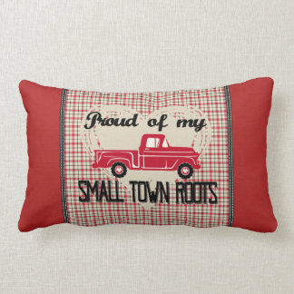 A cidade pequena enraíza o travesseiro lombar almofada lombar
