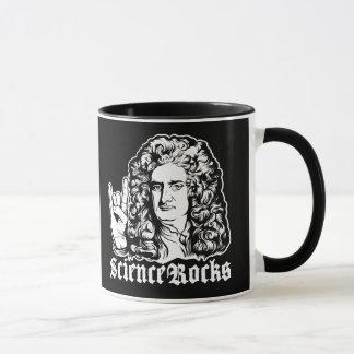 A ciência do senhor Isaac Newton balança canecas