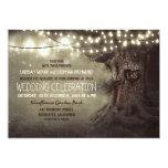 a cintilação cinzelada velha da árvore ilumina o convite 12.7 x 17.78cm