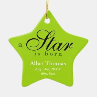 A cinza verde uma estrela é anúncio nascido do ornamento de cerâmica estrela