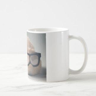 A cobaia a mais bonito que veste vidros caneca de café