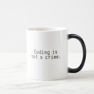 A codificação não é caneca em mudança da cor de u