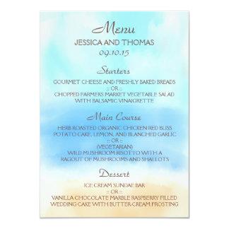 A coleção do casamento de praia da aguarela convite 11.30 x 15.87cm