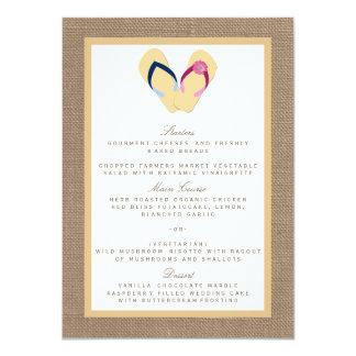 A coleção do casamento de serapilheira da praia da convite 11.30 x 15.87cm