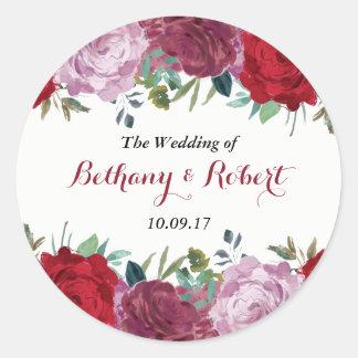 A coleção floral romântica do casamento adesivo