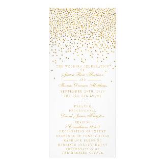 A coleção Glam do casamento dos confetes do ouro 10.16 X 22.86cm Panfleto