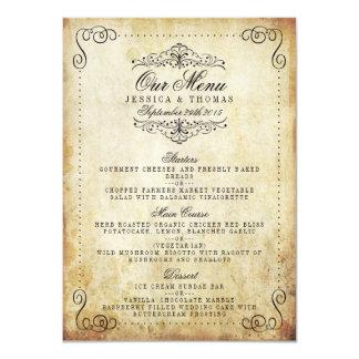 A coleção ornamentado do casamento vintage do convite 11.30 x 15.87cm