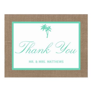 A coleção tropical do casamento de praia da cartão postal