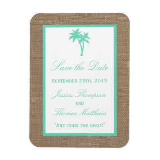 A coleção tropical do casamento de praia da foto com ímã retangular
