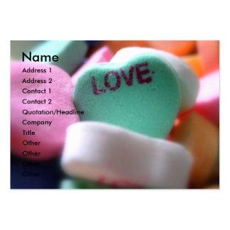 A conexão do amor cartão de visita grande