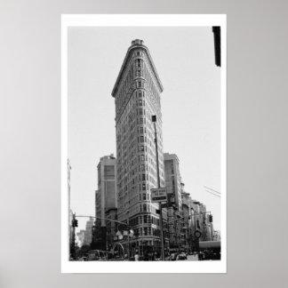 A construção de Flatiron (foto) Poster