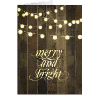 A corda de suspensão do globo ilumina alegre e cartão