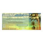 A corda ilumina as palmas que Wedding bilhetes da Convite Personalizado