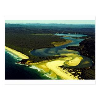 A costa de Austrália: Baía do desastre, NSW Cartão Postal