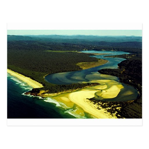 A costa de Austrália: Baía do desastre, NSW Cartao Postal