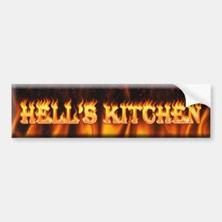 a cozinha do inferno adesivo para carro